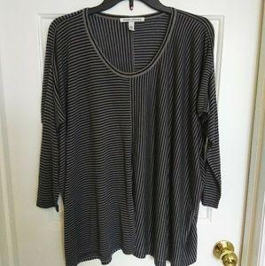 Autumn Cashmere Striped Modal Sweater